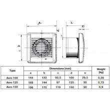 Битов вентилатор с лагери Blauberg/Aero/100mm